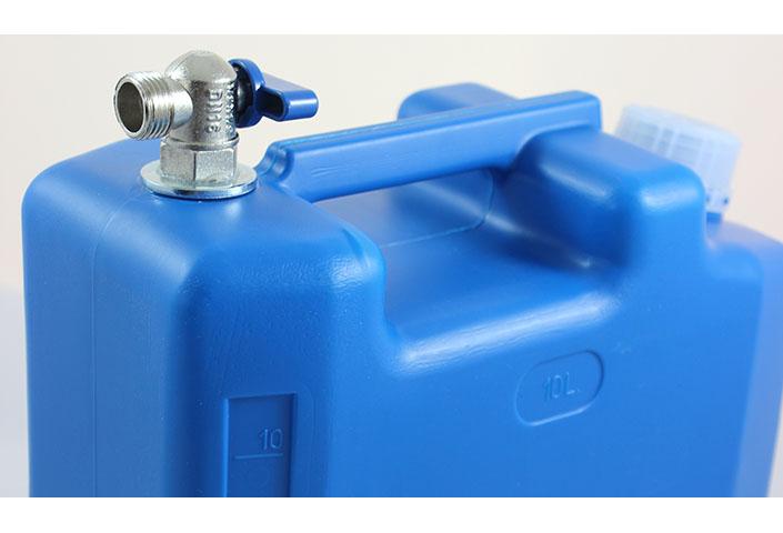 10L Wasserkanister mit Mettalhahn geeignet für Auflieger Camper Volvo Mercedes