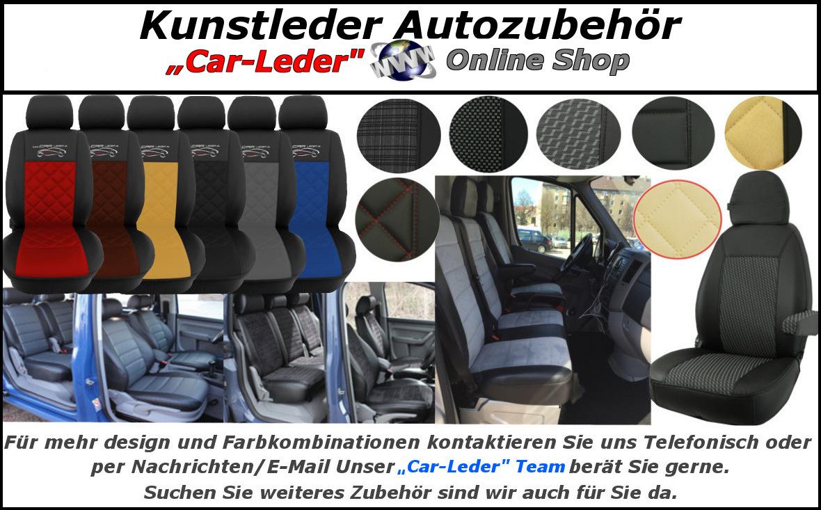 Auto Sitzbezüge Autoschonbezüg Grau geeignet für Peugeot 107 108 2008 206 206+